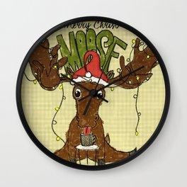 Christmoose Wall Clock