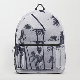 Tropical Storm in Purple Backpack