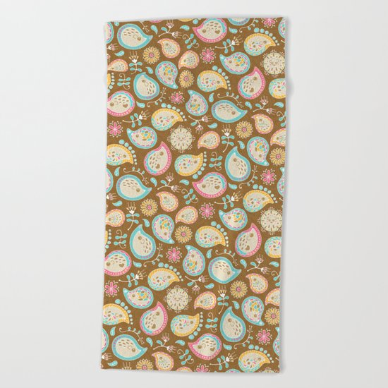 Hedgehog Paisley_Colors and Cocoa Beach Towel