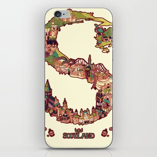 S is for Scotland iPhone & iPod Skin