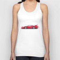 ferrari Tank Tops featuring Ferrari F40  by Claeys Jelle Automotive Artwork