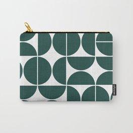 Mid Century Modern Geometric 04 Dark Green Carry-All Pouch