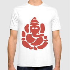 Ganesh - Hindu God Mens Fitted Tee MEDIUM White