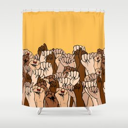 Power Fists Shower Curtain