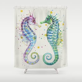 Guardians of the Sea - Natural Shower Curtain
