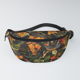 Vintage & Shabby Chic - Midnight Tropical Bird Garden Fanny Pack