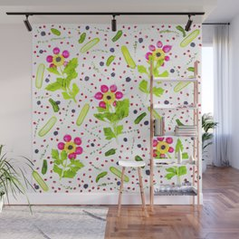 Fruits and vegetables pattern (15) Wall Mural