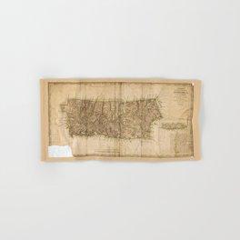 Map of Puerto Rico (1791) Hand & Bath Towel
