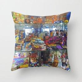 vintage store Throw Pillow