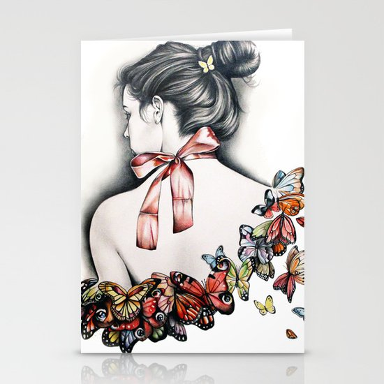 L'effet papillon Stationery Cards