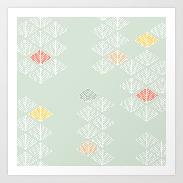 Japanese Pattern: Spring Art Print