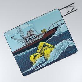 Jaws: Orca Illustration Picnic Blanket