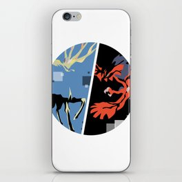 Xerneas and Yveltal special edit (circle) iPhone Skin