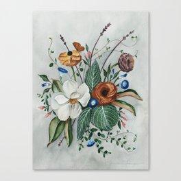Moody Magnolia Arrangement Canvas Print