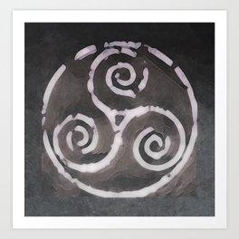 Rustic Triskelion Symbol Art Print