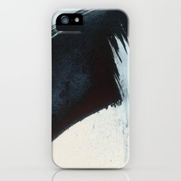 Like A Gentle Hurricane [2]: a minimal, abstract piece in blues and white by Alyssa Hamilton Art iPhone Case
