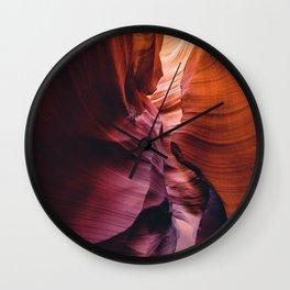 Antelope Canyon Rainbow Wall Clock