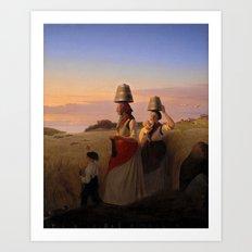 Jorgen Sonne (1801-90) - Rural Scene. (1848) Art Print
