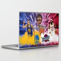 basketball Laptop & iPad Skins featuring Basketball  by RickART