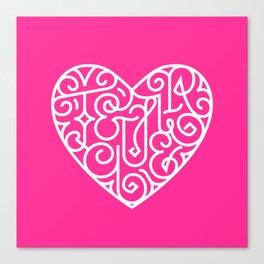 Te quiero. Pink Canvas Print