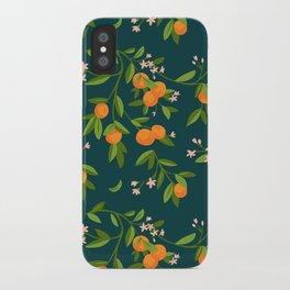 Citrus Tree - Navy iPhone Case