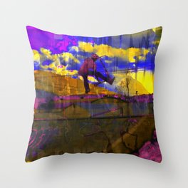 Stuntman - Stunt Scooter Sports Art Throw Pillow