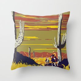 National Parks 2050: Sagauro Throw Pillow