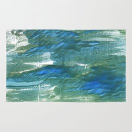 Wintergreen Dream abstract watercolor Rug