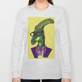 Hipster Dino Long Sleeve T-shirt