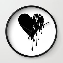 Bleeding Black Heart Wall Clock