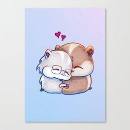 Hamsters HamHams Huggy Hugs Canvas Print