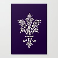 royal Canvas Prints featuring Royal by Candace Fowler Ink&Co.