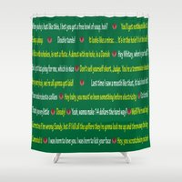 quotes Shower Curtains featuring Caddyshack Quotes by Dr. Spaceman40