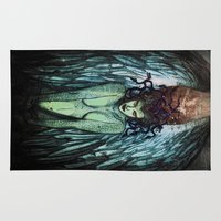 medusa Area & Throw Rugs featuring Medusa  by CLE.ArT.