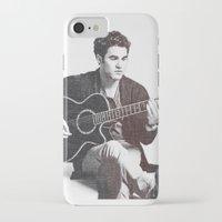 darren criss iPhone & iPod Cases featuring Darren Criss by kltj11