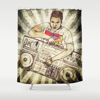 radio Shower Curtains featuring Radio Raheem by Artistic