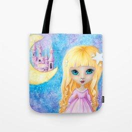 Castle Dreams Girl Tote Bag