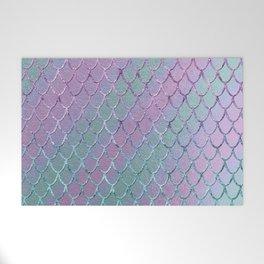 Mermaid Princess Glitter Scales Glam #1 #shiny #stripes #decor #art #society6 Welcome Mat
