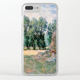 Haystacks by Claude Monet Clear iPhone Case