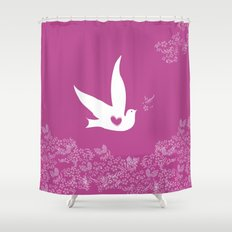 Love and Freedom - Purple Shower Curtain