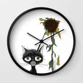 Sad is one complicated emotion of a cat! Wall Clock