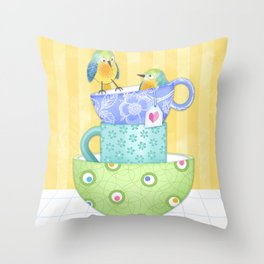 I Was Here First Throw Pillow