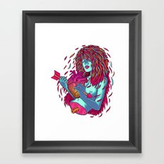 Shot through the heart Framed Art Print