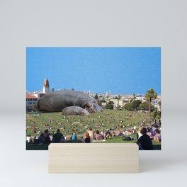 San Fran Hippos Mini Art Print