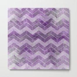 Chevron pattern, watercolors purple Metal Print