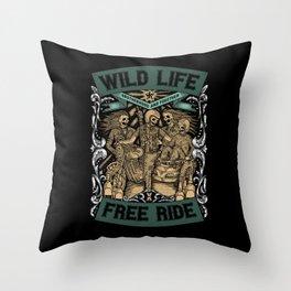 Wild Life, Free Ride Throw Pillow