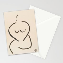 Seated Nude #2 Stationery Cards