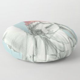 Liberty in PINK skyblue Floor Pillow
