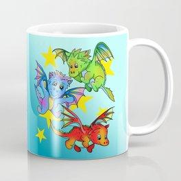Baby dragons flying among the stars Coffee Mug
