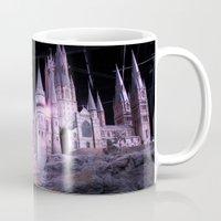 hogwarts Mugs featuring Hogwarts by Anabella Nolasco